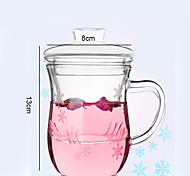 Novelty Frosted Drinkware, 350 ml Decoration Flexible Glass Water Glass