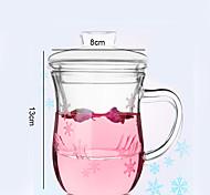 Novidades Áspero Artigos para Bebida, 350 ml Decoração Flexível Vidro Água Vidro