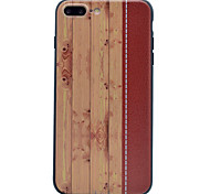 For Embossed Wood Grain High Quality Soft TPU Phone Case for iPhone 7 7Plus 6 6Plus