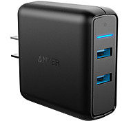 Anker® Quick Charge 3.0 39W USB Wall Charger US Plug (Quick Charge 2.0 Compatible) PowerPort 2 for LG HTC Nexus iPhone iPad