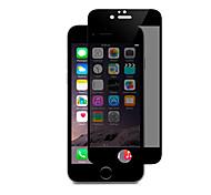 2.5d ZxD 9h vidrio de espía contra la privacidad de pantalla completa templado para el iphone de la manzana 7 pantalla de la película