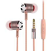 2017 New Langsdom M400 Metal Heavy bass headphones with mircophone Thread line stereo music earphone for iphone samsung huawei xiaomi