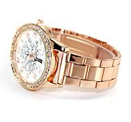 Women's Kids' Fashion Watch Simulated Diamond Watch Imitation Diamond Quartz Alloy Band Gold