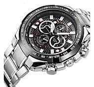 Relógio Esportivo Relógio de Moda Relógio de Pulso Quartzo Lega Banda Prata
