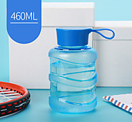 Transparent Sports Drinkware, 460 ml Leak-proof BPA Free Plastic Juice Water Bottle
