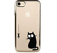 Для Покрытие Кейс для Задняя крышка Кейс для Кот Мягкий TPU для AppleiPhone 7 Plus iPhone 7 iPhone 6s Plus/6 Plus iPhone 6s/6 iPhone