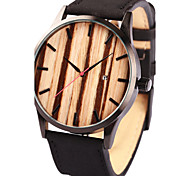 Men's Women's Unisex Sport Watch Dress Watch Fashion Watch Wrist watch Bracelet Watch Wood Watch Punk Japanese Quartz Genuine Leather Band