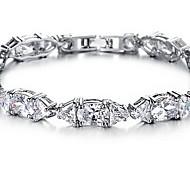 Chain Bracelet Crystal Crystal Zircon Alloy Fashion Jewelry White Jewelry 1pc