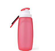 Novelty Sports Outdoor Drinkware, 320 ml Squeezing Portable Leak-proof Silicone Water Carbonated Beverage Water Bottle
