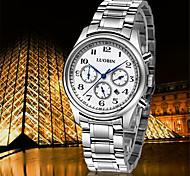 Fashion Watch Swiss Designer Quartz Leather Band Charm Black Silver
