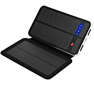 SUNWALK 3W 10000mAh Dual USB 2100mAh Output Solar Charger Power Bank External Battery for Cell Phone