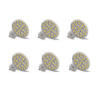 3W GU10 Luz de Decoração 29 SMD 5050 200-300 lm Branco Quente Branco Frio Decorativa AC 220-240 V 6 pçs
