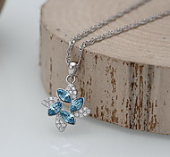 Pendants Crystal Agate Simulated Diamond Basic Flower Style Blue Jewelry Daily Casual 1pc
