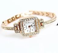 Bracelet de Montre Quartz Alliage Plaqué Or Rose Bande Doré