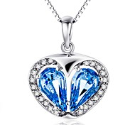 Pendants Crystal Crystal Zircon Cubic Zirconia Simulated Diamond Heart Blue Jewelry Daily Casual 1pc