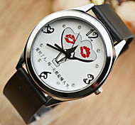 Fashion Watch Quartz Leather Band Black