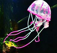 Aquarium Decoration Jellyfish Non-toxic & Tasteless Silicone Red