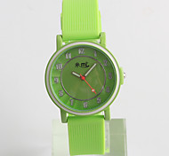 Fashion Watch Quartz / Silicone Band Casual Green Brand Strap Watch