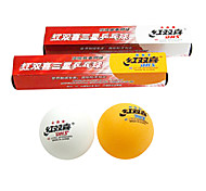 Unisex Table Tennis Ball High Elasticity Yellow White 6 Plastic