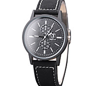Fashion Watch Wrist watch Quartz PU Band Casual Cool Black