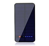SUNWALK 1.5W 10000mAh Dual USB 2100mAh Output Solar Charger Power Bank External Battery for Cell Phone