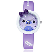 KEZZI Women's Kids' Fashion Watch Quartz / Silicone Band Casual Black White Blue Pink Purple White Black Purple Blue Blushing Pink Strap Watch