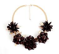 Women's Strands Necklaces Statement Necklaces Jewelry Gem Alloy Jewelry Flower Style Fashion Personalized Euramerican Statement Jewelry