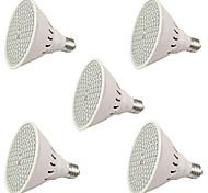 6W E27 Luces LED para Crecimiento Vegetal 106 SMD 3528 2500-3000 lm Rojo Azul V 5 piezas