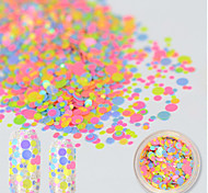 1bottle Fashion DIY New Nail Art Decorations Mini Round Thin Paillette Colorful Design Sticker for Gel Polish Nail Glitter P39