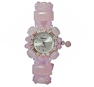 Women's Fashion Watch Quartz Jade Band Pink