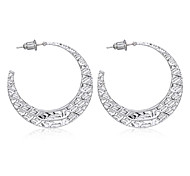 European Vintage Hammered C Hoop Earrings