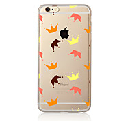 Para Transparente Estampada Capinha Capa Traseira Capinha Azulejos Macia TPU para AppleiPhone 7 Plus iPhone 7 iPhone 6s Plus iPhone 6