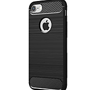 Para Antichoque Capinha Capa Traseira Capinha Cor Única Macia TPU para Apple iPhone 7 Plus iPhone 7 iPhone 6s Plus iPhone 6s