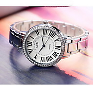 Women's Fashion Watch Simulated Diamond Watch Water Resistant / Water Proof Quartz Alloy Band Cool Casual Silver