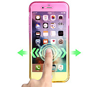 Para Ultra-Fina Capinha Corpo Inteiro Capinha Cores Gradiente Macia TPU para AppleiPhone 7 Plus iPhone 7 iPhone 6s Plus iPhone 6 Plus