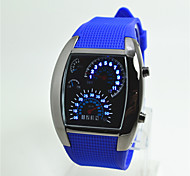 Men's Fashion Watch Digital Watch Digital Silicone Band Casual White Blue