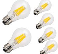 12W E26/E27 Bombillas de Filamento LED A60(A19) 12 COB 1000 lm Blanco Cálido Blanco Fresco Decorativa AC 100-240 V 6 piezas