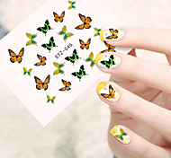 10pcs/set Summer Hot Beautiful Butterfly Design Nail Art Sticker Lovely Nail Water Transfer Decals Nail Beauty STZ-046