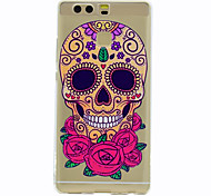 For Huawei Mate 9 P9 Skull Pattern Soft TPU Material Phone Case for  P9 Lite Honor 5C