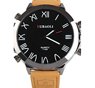 JUBAOLI Herren Sportuhr Quartz Legierung Band Orange Orange