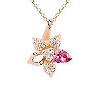Жен. Ожерелья с подвесками Кристалл В форме звезды Базовый дизайн Лиловый Розовый Светло-синий Бижутерия Для Для вечеринок День рождения