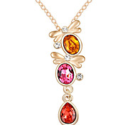 Women's Pendant Necklaces Crystal Drop Chrome Classic Jewelry For Birthday Gift 1pc