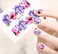 10pcs/set Fashion Hot Design Nail Art Water Transfer Decals Beautiful Colored Flower Full Nail Art Sticker DIY Beauty Tip STZ-131