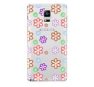 Para Transparente Diseños Funda Cubierta Trasera Funda Dibujos Suave TPU para Samsung Note 5 Note 4 Note 3 Note 2
