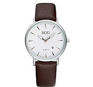 Women's Fashion Watch Chinese Quartz Leather Band Casual Black White Blue Red Brown