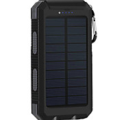 8000mAhbanco do poder de bateria externa Recarga com Energia Solar Output Múltiplo Lanterna 8000 2000Recarga com Energia Solar Output