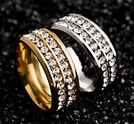 Для пары Кольца для пар Уникальный дизайн бижутерия Нержавеющая сталь Циркон Круглой формы Бижутерия Назначение Свадьба Для вечеринок