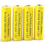 Hbb aa nickel cadmium rechargeable batterie 1.2v 400mah 20 pack