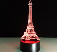 романтичная Франция Эйфелева башня 3D LED ночь свет RGB изменчива настроение лампы USB декоративные настольные лампы дети друзья подарок
