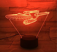 Novel 3D Visual LED Night Light Star Trek Ship Figure Cool Decor Table Lamp Nightlamp Veilleuse Enfant Touch Lampen For Fans